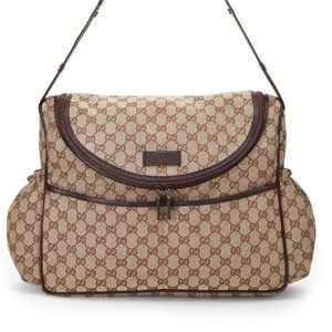 Classic canvas Gucci baby bag